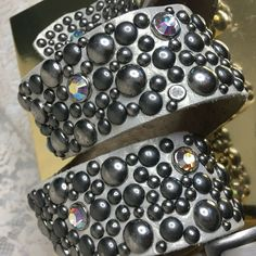 d28eaee56b2 Womens Size 32 Rhinestone Studded Jewels Leather Western Belt Boho Made in  USA  Unbranded