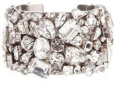 A chunky cuff bracelet uses lots of shaped stones