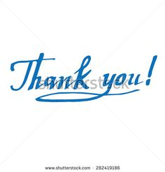 Thank you hand made calligraphic vector sign (inscription, lettering)