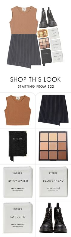 """lemonade"" by corruptedcolours ❤ liked on Polyvore featuring Samuji, Aspinal of London, Morphe, Byredo and Dr. Martens"