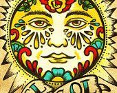 Folk Art POSTCARDS Mexican Loteria Tattoo Art - Set of 8 Designs. $10.00, via Etsy.
