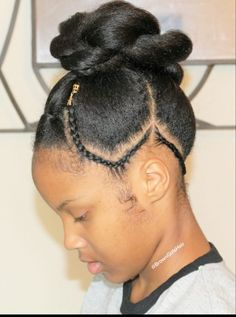 We post cute hairstyles weekly with tutorials http://www.browngirlsstyle.com/new-updo-cornrows-hairstyle/#hair #browngirlshair #naturalhair