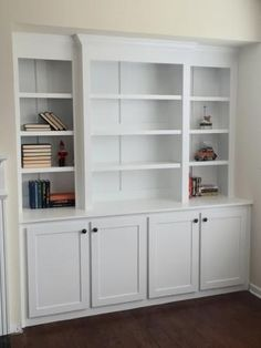 Built in bookcase with lights | Do It Yourself Home Projects from Ana White