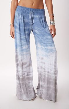 NEW MOON WIDE LEG PANT / ocean / sky / perfect for an evening by the pool or on the beach.