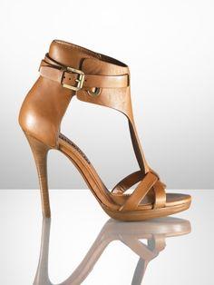 Ralph Lauren Dallyce Calf T-Strap Sandal :)