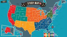 Geography Drive Arcade - 수도, 국기와 미국의 국가 형태를 알아보기 Spinlight Studio  퀴즈