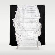 Black, White & White Shower Curtain by RvHART | Society6