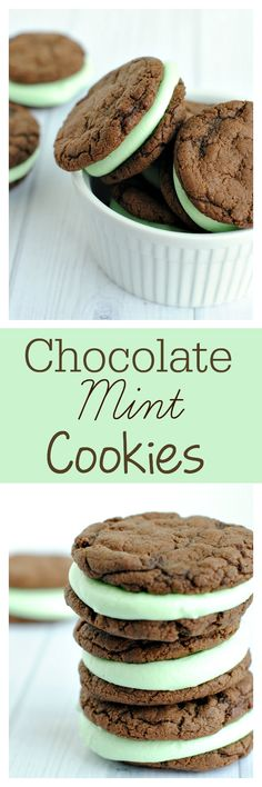 Amazing chocolate mint sandwich cookies!