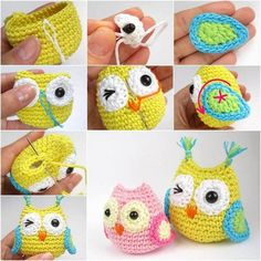 DIY Crocheted Owls  with Free Patterns | par coolcreativity