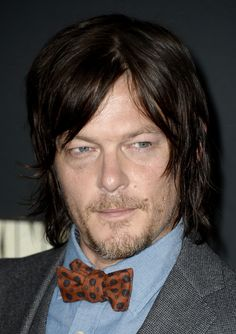 Wearing a bow tie like a boss. | 36 Photos Of Norman Reedus That Will Give You A Zombie Boner
