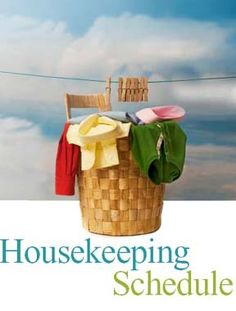 House Cleaning Schedule for every room