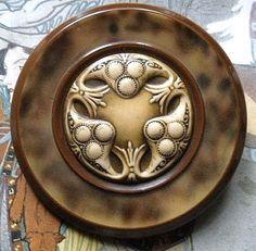 Antique button Art Nouveau celluloid tight top-Etsy