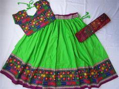 Navratri chaniya choli green with embroidery work by mfussion
