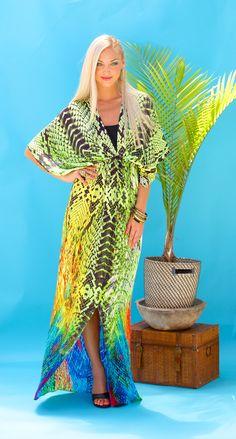 Lotta Stensson Reptile Rainbow Regular Robe! #lottastensson #lottanyc #fashion #beachwear #resortwear #lottalove