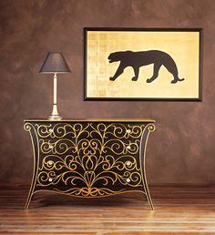 gold and black luxury dresser