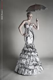 Dress made from Tin foil
