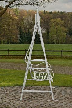 Amazon.de: CLP 2 Sitzer / 3 Sitzer Garten Hollywoodschaukel AIMEE, Landhaus-Stil, Metall (Eisen) antik-weiß