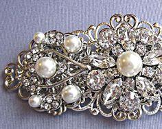 Pearl barrette for wedding hair