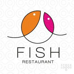 Logo shows a geometric shape which can be recognized as 2 fish, in pink and orange colours. This logo is ideal for restaurant specialized in serving dishes made from fish and sea food. It can be also used for exotic fish importer, sea food market, fish market, sushi or Asian cuisine restaurant, fishing store.