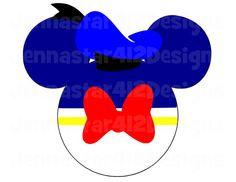 Donald Mickey Head DIY Printable Iron On Transfer Digital File