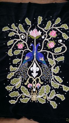 """My embroidery for the sleeve to my SCA """"Swabian dress project"""""""