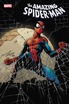The Amazing Spider-Man vol 5 #70 | Cover art by Mark Bagley, John Dell & Brian Reber Comics Spiderman, Spider Man 2018, Avengers, Mark Bagley, Black Widow Movie, Marvel Comic Books, Spider Verse, Comic Book Covers, Comic Art