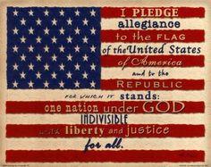 I pledge allegiance....