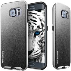 Caseology Samsung Galaxy S 6 Edge Envoy Series Leather Bound Case (charcoal Black)