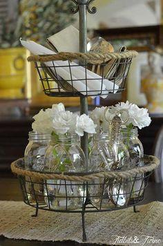 A Casual Elegant Mason Jar Centerpiece
