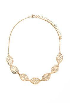 $40 Collar de hojas   Forever 21 - 1000168369