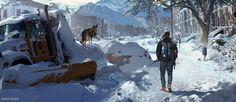 Lost in Snow, Danar Worya on ArtStation at https://www.artstation.com/artwork/lost-in-snow