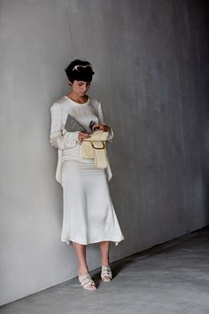 all white. #EvaFontanelli in Milan. #TheSartorialist