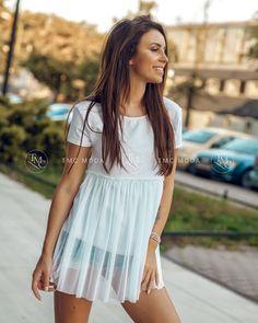 Dámska blúzka romantická vo farbe bielej Sexy Dresses, White Dress, Fashion, Moda, Fashion Styles, Hot Dress, Fashion Illustrations