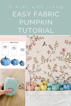 DIY fabric pumpkins- a free pattern for a tutorial with a video and step by step instructions. This is cute fall season decor and is an easy to make autumn craft! Easy Projects, Home Projects, Seasonal Decor, Fall Decor, Diy Home Accessories, Diy Outdoor Kitchen, Diy Home Repair, Fabric Pumpkins, Cozy Room