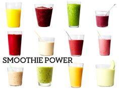 Smoodies! Particularly love the second one (blueberries & green tea) - mmm mmm!
