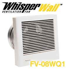 panasonic fans whisperwall fv08wq1 wall mounted fan 70 cfm 11 sones