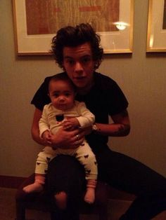 He is so good with babies/kids they r gonna be such GREAT dads some day         U OKAY?      I'M NOT