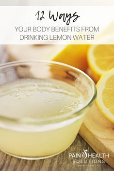 12 Benefits of drinking lemon water and what it can do for your body. Lemon Water Benefits, Benefits Of Drinking Water, Lemon Health Benefits, Drinking Lemon Water, Lemon Vitamin C, Anti Oxidant Foods, Inflammatory Foods, Warm Lemon Water, Colon Health