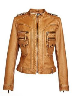 Amazing O-Neck Full Sleeve Zipper Pockets Women Leisure Jackets on buytrends.com