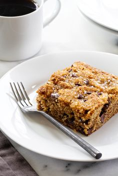 Date Cake is simple and delicious. It's flecked with chocolate chips and walnuts and topped with sparkling sugar.