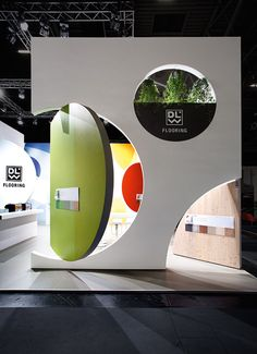 DLW Flooring Exhibit Booth at BAU 2017 in Munich + Designed by Ippolito Fleitz Group – Identity Architects, Nature. Pop Design, Display Design, Store Design, Graphic Design, Design Lab, Design Concepts, Sketch Design, Exhibition Stall, Exhibition Stand Design