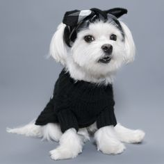 """Our luxurious hand knit sweater is so beautiful even you want to wear it! It keeps your pup warm, soft to the touch and looks super cute. SIZE Neck Chest Small : 8-12"""" 0-18"""" Medium : 12-16"""" 16-22"""" Pic"""