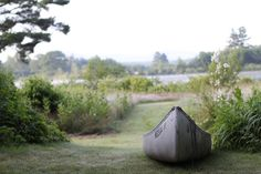 canoe by the lake
