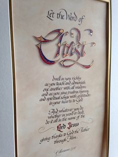 Colossians 3:17 hand-done calligraphy by Sharon Thomas, heartstringsdesigns.com