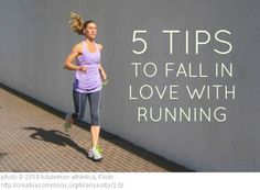 Running For Dummies 5 Tips to Fall in Love with Running. Click through to read.