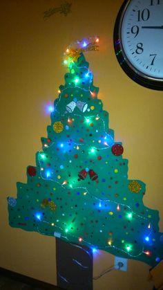 Árbol navidad infantil. Cartulina
