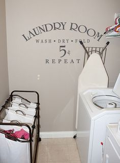 Laundry Room Wall Words | Laundry Room 5 Cents - Beautiful Wall Decals