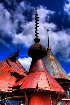 Moore's Castle. Artist Vic Moore assembled this amazing structure from junk in a nearby landfill near Pullman, WA in the late 60s. I remember visiting as a kid. I loved the fantastical scale and the fact that it was kind of a hangout for hippie grad students.