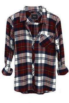 Rails Hunter Flannel Shirt in Wine/Ivory