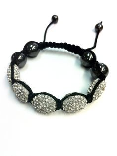 Shamballa bracelets are said to bring peace, tranquility and happiness to those who wear it. Worn by monks to encourage meditation and positive energy. Each bead is encrusted with sparking Austrian cr